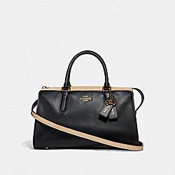 SELENA BOND BAG IN COLORBLOCK - BLACK MULTI/GOLD - COACH F39288