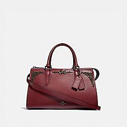 SELENA BOND BAG WITH CRYSTAL EMBELLISHMENT - WINE/GUNMETAL - COACH F39289