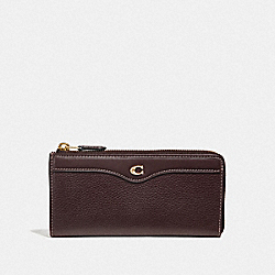L-ZIP WALLET - OXBLOOD 1/LIGHT GOLD - COACH F39310