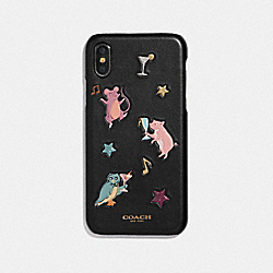 IPHONE X/XS CASE WITH PARTY ANIMALS PRINT - MULTICOLOR - COACH F39329