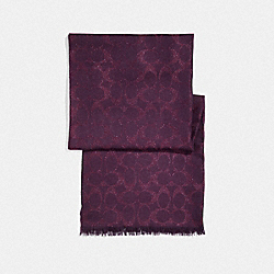 METALLIC SIGNATURE WRAP - RASPBERRY - COACH F39425