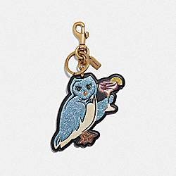 PARTY OWL BAG CHARM - LI/BLACK - COACH F39499