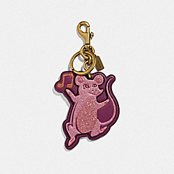 PARTY MOUSE BAG CHARM - B4/DARK BERRY - COACH F39500