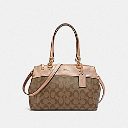 MINI BROOKE CARRYALL IN SIGNATURE CANVAS - KHAKI/ROSE GOLD/LIGHT GOLD - COACH F39521