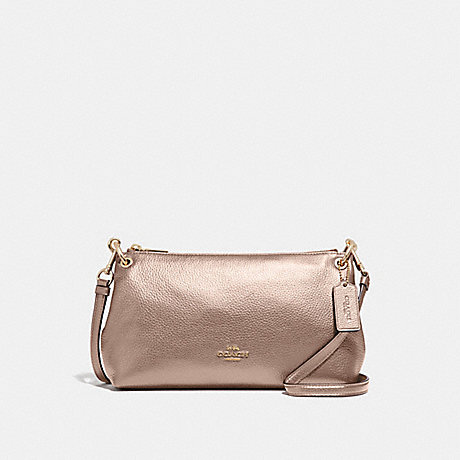 COACH CHARLEY CROSSBODY - ROSE GOLD/LIGHT GOLD - F39591