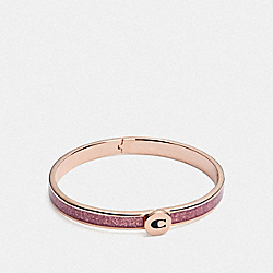 ICONIC GLITTER BANGLE - PINK/ROSEGOLD - COACH F39599