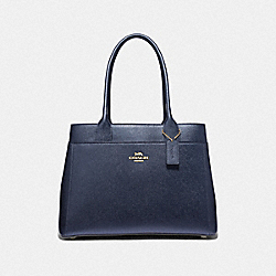 CASEY TOTE - METALLIC DENIM/LIGHT GOLD - COACH F39600