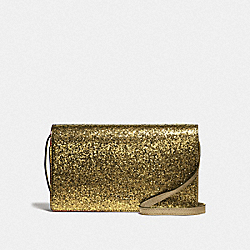 HAYDEN FOLDOVER CROSSBODY CLUTCH - GOLD/LIGHT GOLD - COACH F39640