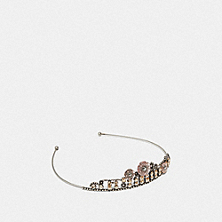 TEA ROSE TIARA - ROSE/SILVER - COACH F39652