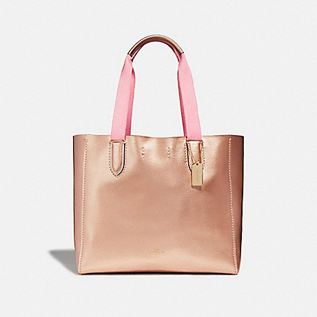 COACH DERBY TOTE - ROSE GOLD/LIGHT GOLD - F39675