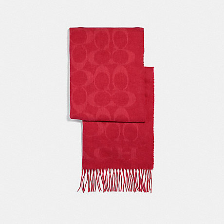 COACH SIGNATURE MUFFLER - BRIGHT RED - F39703