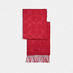 SIGNATURE MUFFLER - BRIGHT RED - COACH F39703