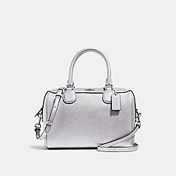 MINI BENNETT SATCHEL - METALLIC SILVER/SILVER - COACH F39706