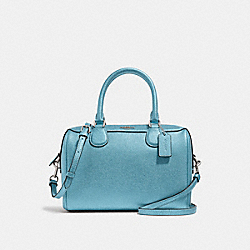 MINI BENNETT SATCHEL - METALLIC SKY BLUE/SILVER - COACH F39706