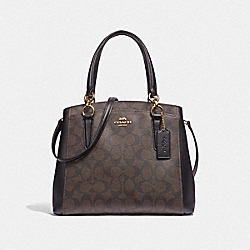 MINETTA CROSSBODY IN SIGNATURE CANVAS - BROWN/BLACK/LIGHT GOLD - COACH F39741