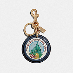 EMERALD CITY BAG CHARM - DARK DENIM/GOLD - COACH F39754