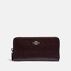 ACCORDION ZIP WALLET - OXBLOOD 1/IMITATION GOLD - COACH F39767