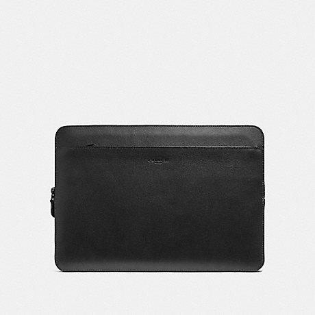 COACH LAPTOP CASE - BLACK/BLACK ANTIQUE NICKEL - F39816