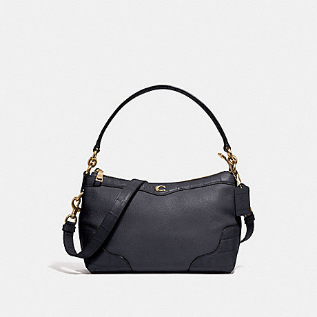 COACH SMALL EAST/WEST IVIE SHOULDER BAG - MIDNIGHT/LIGHT GOLD - F39855