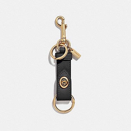 COACH TRIGGER SNAP BAG CHARM - BLACK/GOLD - F39865