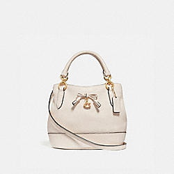 MICRO ALLY BUCKET BAG - CHALK/LIGHT GOLD - COACH F39877