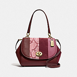 FAYE CARRYALL - WINE MULTI/LIGHT GOLD - COACH F39921