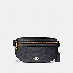 BELT BAG IN SIGNATURE CANVAS - GD/CHARCOAL MIDNIGHT NAVY - COACH F39937