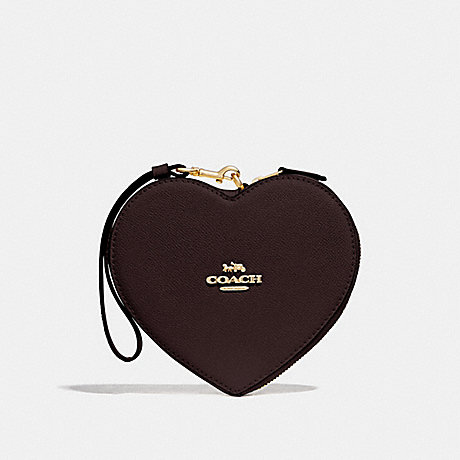 COACH HEART WRISTLET - OXBLOOD 1/IMITATION GOLD - F39957