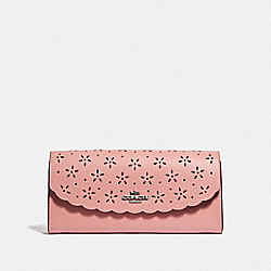 SLIM ENVELOPE WALLET - PETAL/STRAWBERRY/SILVER - COACH F39997