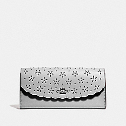 SLIM ENVELOPE WALLET - METALLIC SILVER/CORNFLOWER/SILVER - COACH F39997