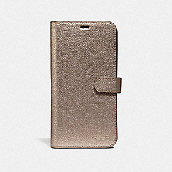 IPHONE XS MAX FOLIO - PLATINUM - COACH F40353