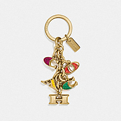 COACH MIX KEYFOB - MULTI/GOLD - COACH F40679