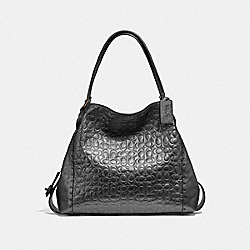 EDIE SHOULDER BAG 31 IN SIGNATURE LEATHER - V5/METALLIC GRAPHITE - COACH F40727