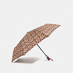 UMBRELLA WITH POP STAR PRINT - KHAKI/MULTICOLOR/SILVER - COACH F40988
