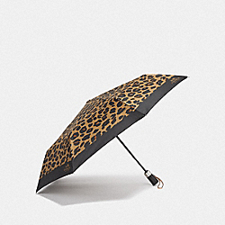 UMBRELLA WITH LEOPARD PRINT - MULTICOLOR/SILVER - COACH F41031