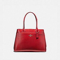 CASEY TOTE - RUBY/LIGHT GOLD - COACH F41118