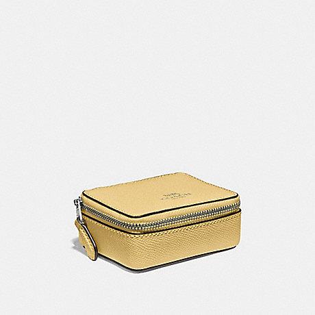 COACH TRIPLE PILL BOX - LIGHT YELLOW/SILVER - F41289