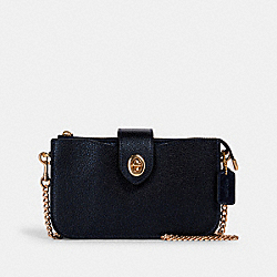 TURNLOCK CROSSBODY - GD/METALLIC BLUE - COACH F41329