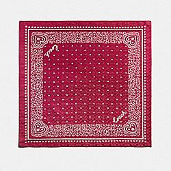LACE HEART PRINT BANDANA - TRUE RED - COACH F41470
