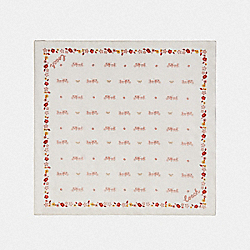 HORSE AND CARRIAGE SILK BANDANA - CHALK - COACH F41815