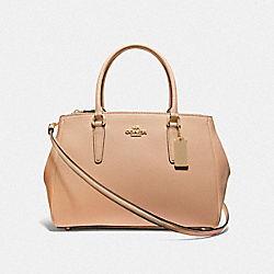 LARGE SURREY CARRYALL - BEECHWOOD/IMITATION GOLD - COACH F44955