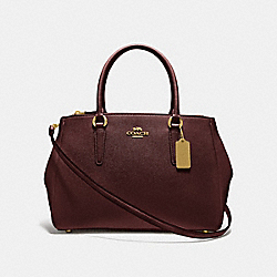 LARGE SURREY CARRYALL - WINE/IMITATION GOLD - COACH F44955