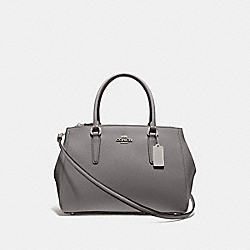 LARGE SURREY CARRYALL - HEATHER GREY/SILVER - COACH F44955