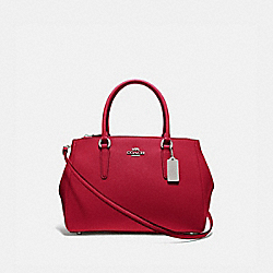 LARGE SURREY CARRYALL - BRIGHT CARDINAL/SILVER - COACH F44955