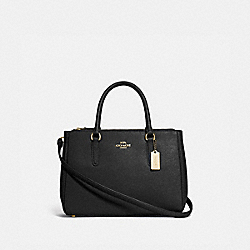 SURREY CARRYALL - BLACK/IMITATION GOLD - COACH F44958
