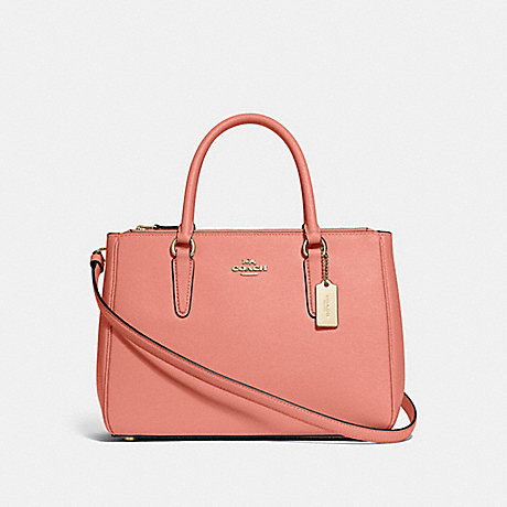 COACH SURREY CARRYALL - LIGHT CORAL/GOLD - F44958