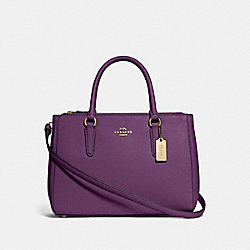 SURREY CARRYALL - GOLD/BLACKBERRY - COACH F44958