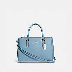 SURREY CARRYALL - CORNFLOWER/SILVER - COACH F44958