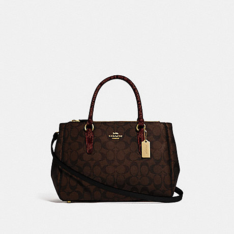 COACH SURREY CARRYALL IN SIGNATURE CANVAS - BROWN BLACK/MULTI/IMITATION GOLD - F44959