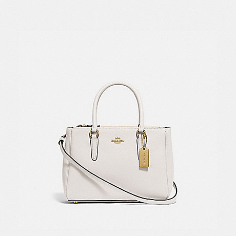COACH MINI SURREY CARRYALL - CHALK/IMITATION GOLD - F44962